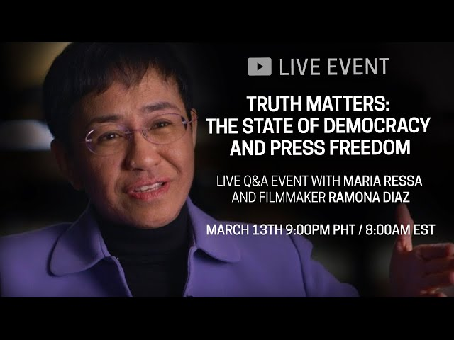 Truth Matters: The State of Democracy and Press Freedom | LIVE DISCUSSION